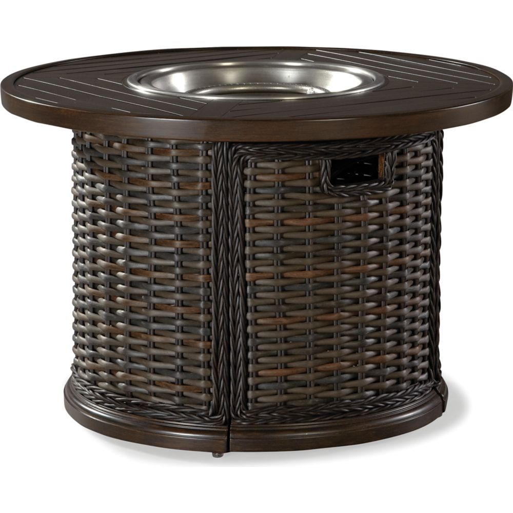 "LANE VENTURE South Hampton 42"" Round Gas Fire Pit"