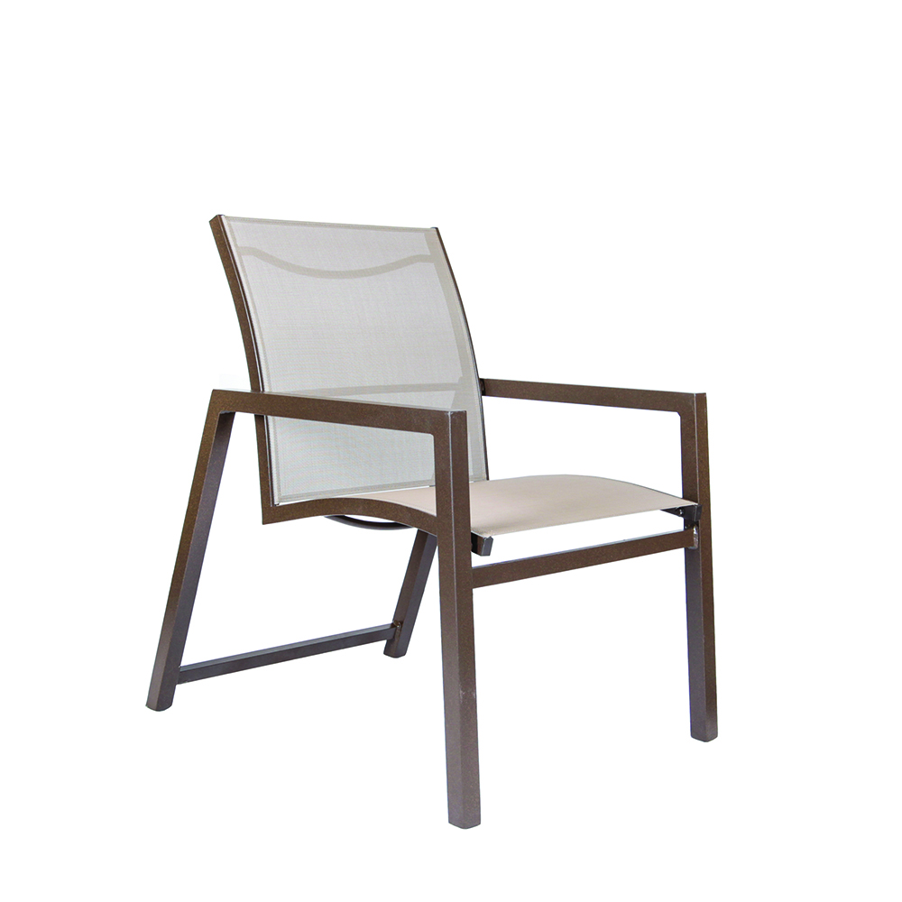 LANE VENTURE Cypress Sling STACKABLE DINING ARM CHAIR
