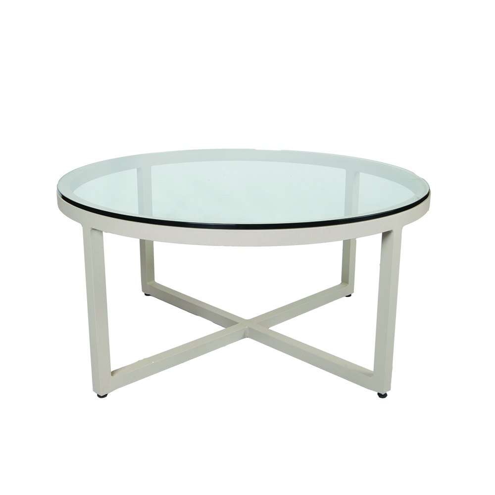 LANE VENTURE Contempo Round Cocktail Table- Glass  Top
