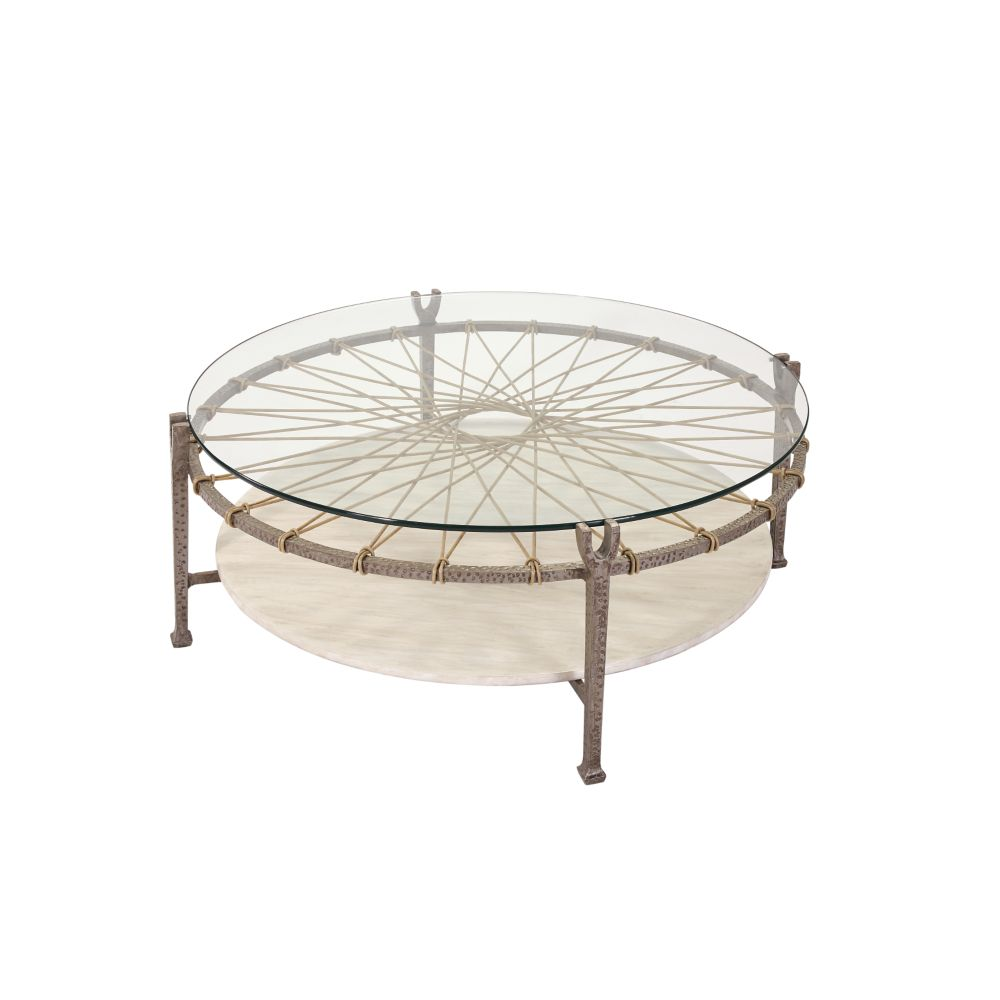 LANE VENTURE Hemingway Round Cocktail Table