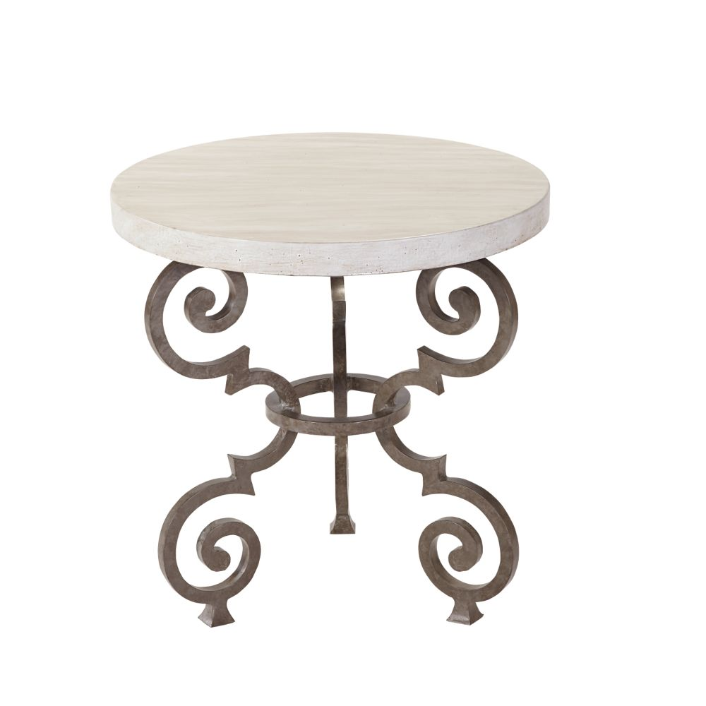 LANE VENTURE Hemingway Florentine Round End Table
