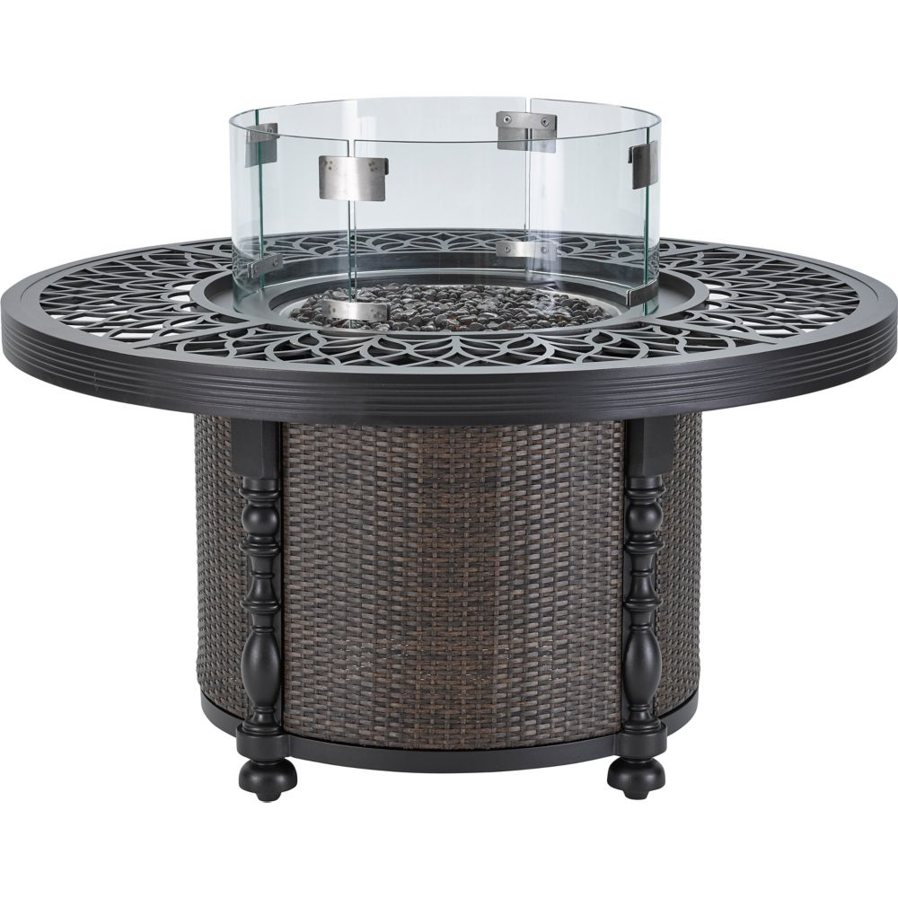 LANE VENTURE Hemingway Islands 48in Round Gas Fire Pit