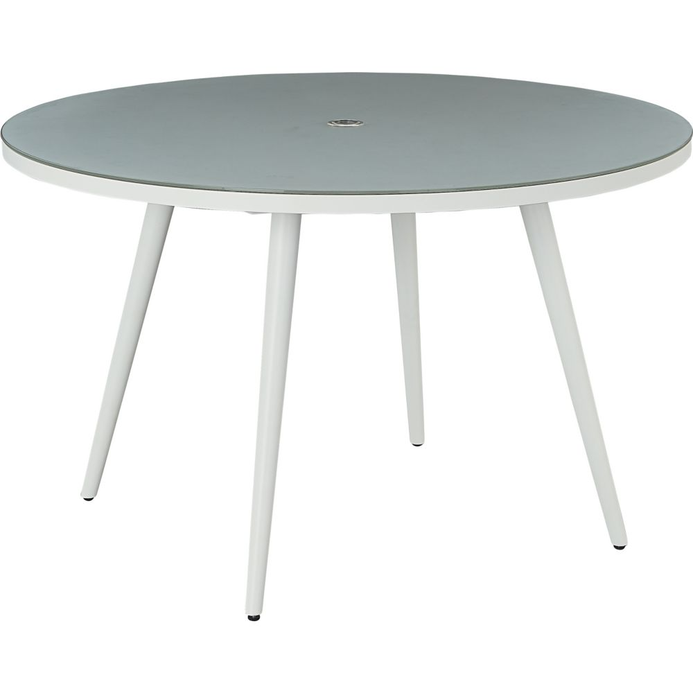 LANE VENTURE Essentials Dining Round Dining Table with Glass Top