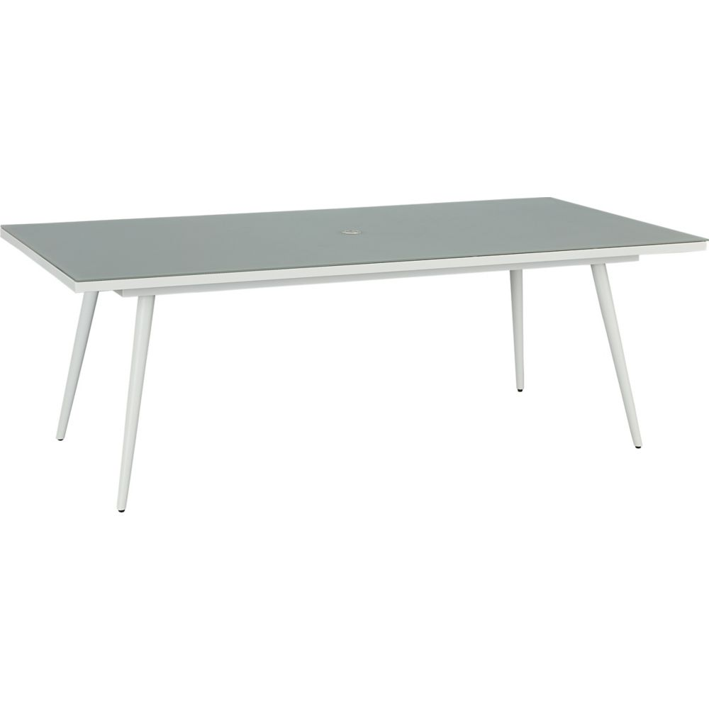 LANE VENTURE Essentials Dining Rectangular Dining Table with Glass Top
