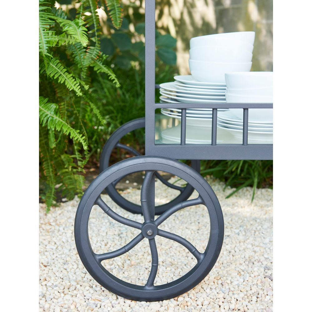LANE VENTURE Winterthur Estate Bar Cart with Wheels
