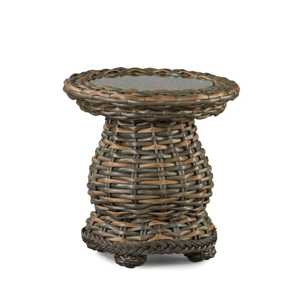LANE VENTURE South Hampton Round Woven Accent Table