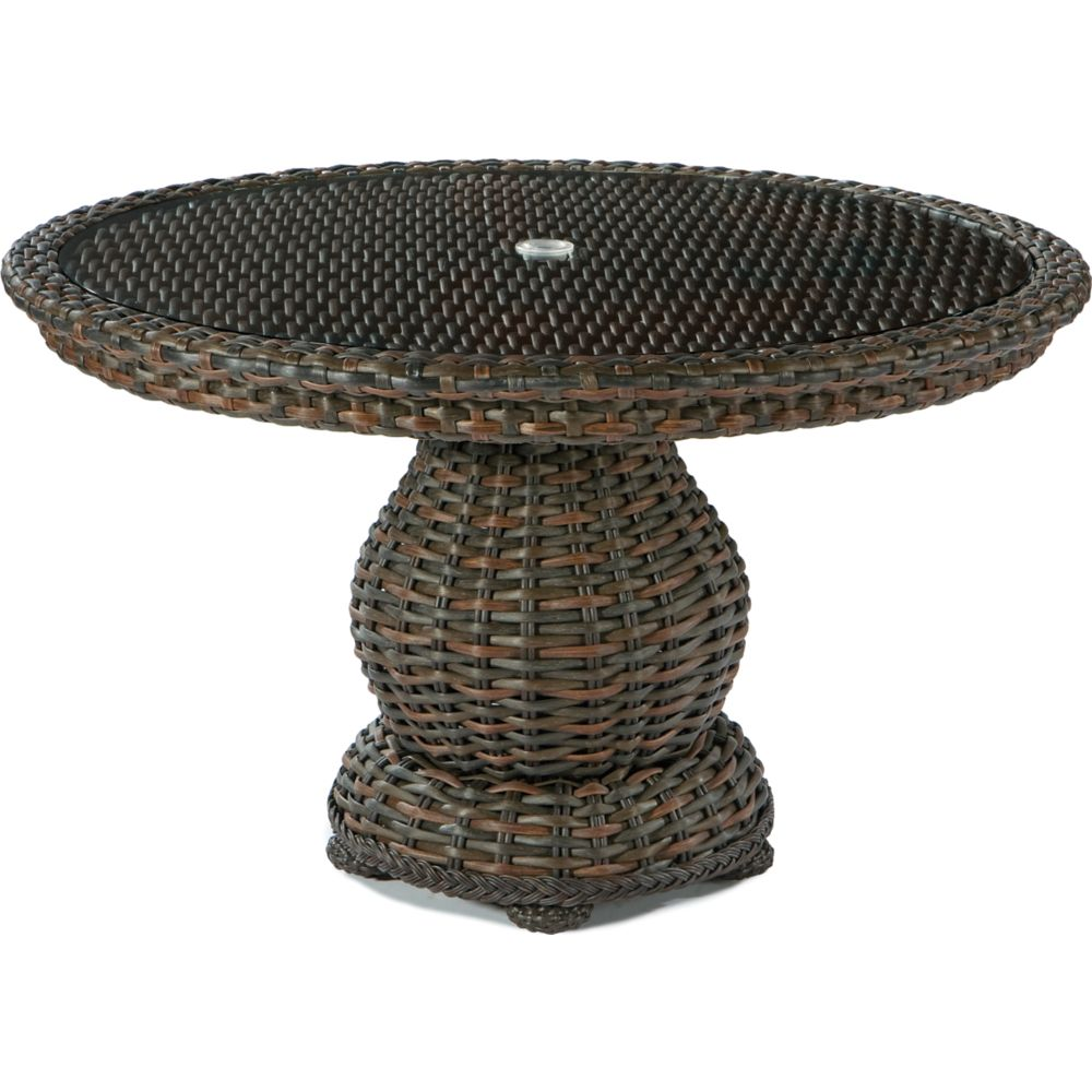 LANE VENTURE South Hampton Round Dining Table with Woven