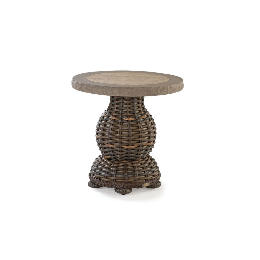LANE VENTURE South Hampton Round End Table with Composite Top