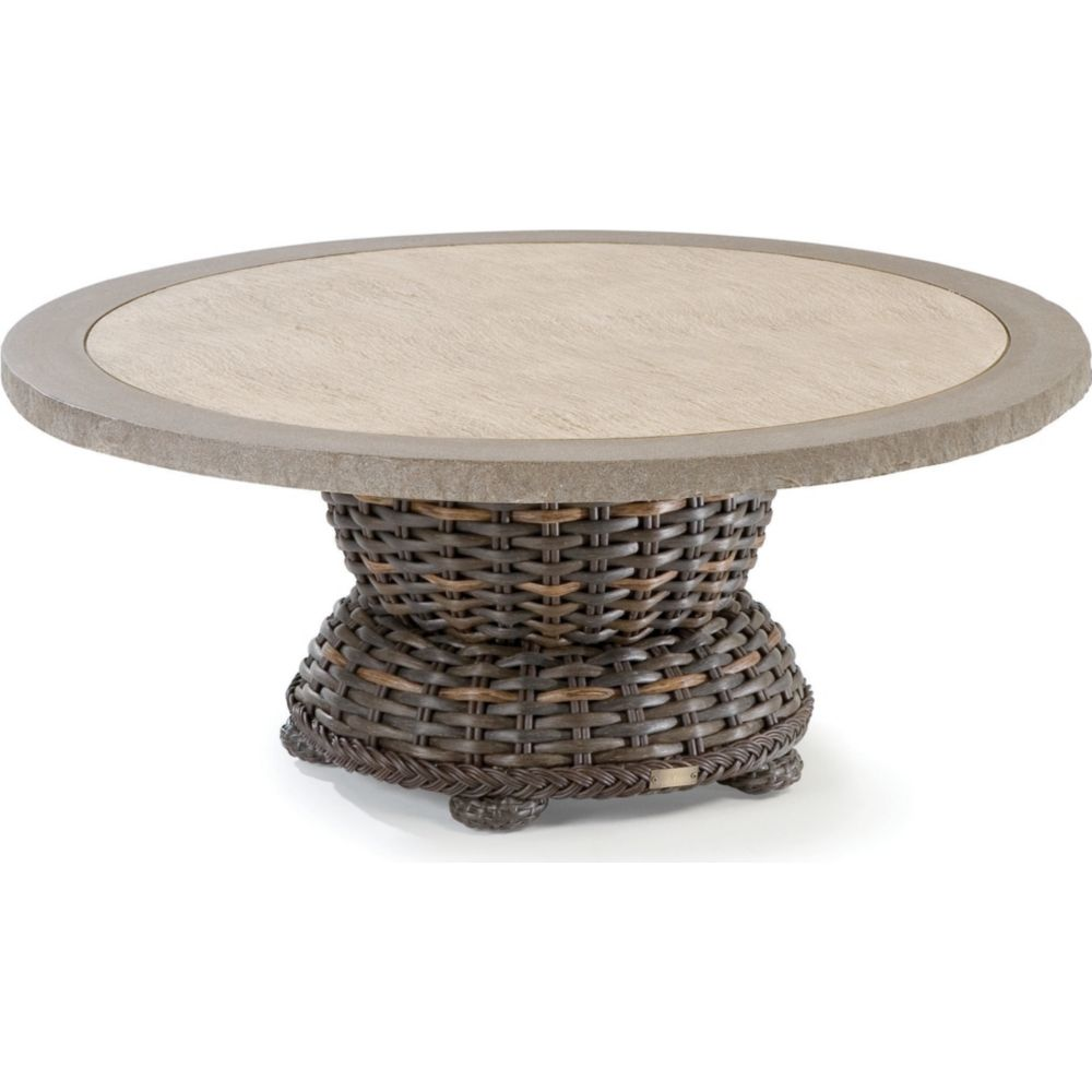 LANE VENTURE South Hampton Round Cocktail Table with Composite Top