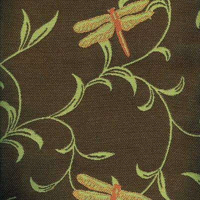 Fabric Swatch:  Dragonfly Twirl Chocolate