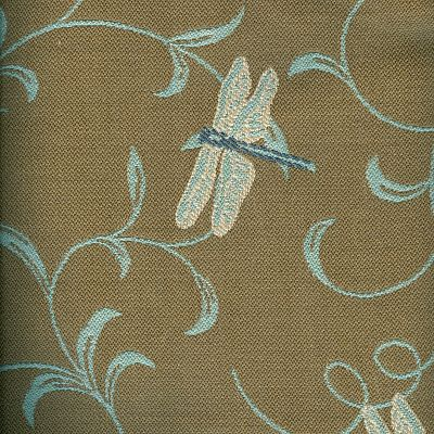 Fabric Swatch:  DRAGONFLY TWIRL LINEN