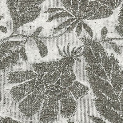 Fabric Swatch:  JACOBEAN FLORAL PEWTER