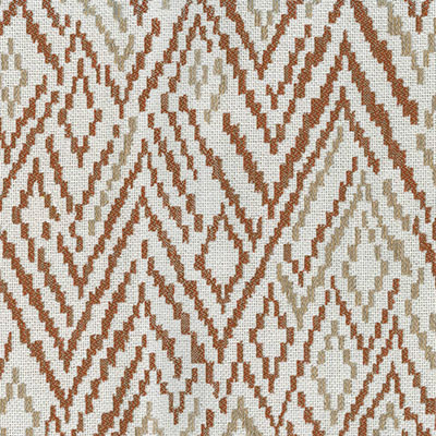 Fabric Swatch:  CHEVRON TOSS RUST