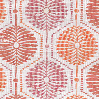 Fabric Swatch:  BLOCK PRINT PETALS MELON