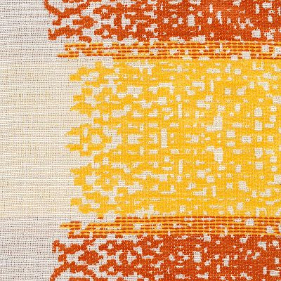 Fabric Swatch:  COZY PIXELS MANDARIN